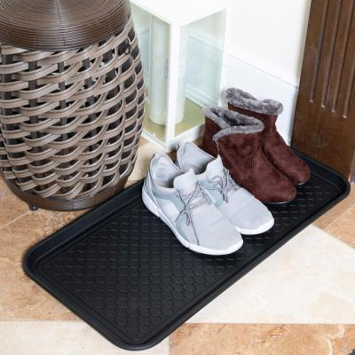 Black 15 in. x 30 in. Polypropylene Utility Boot Tray