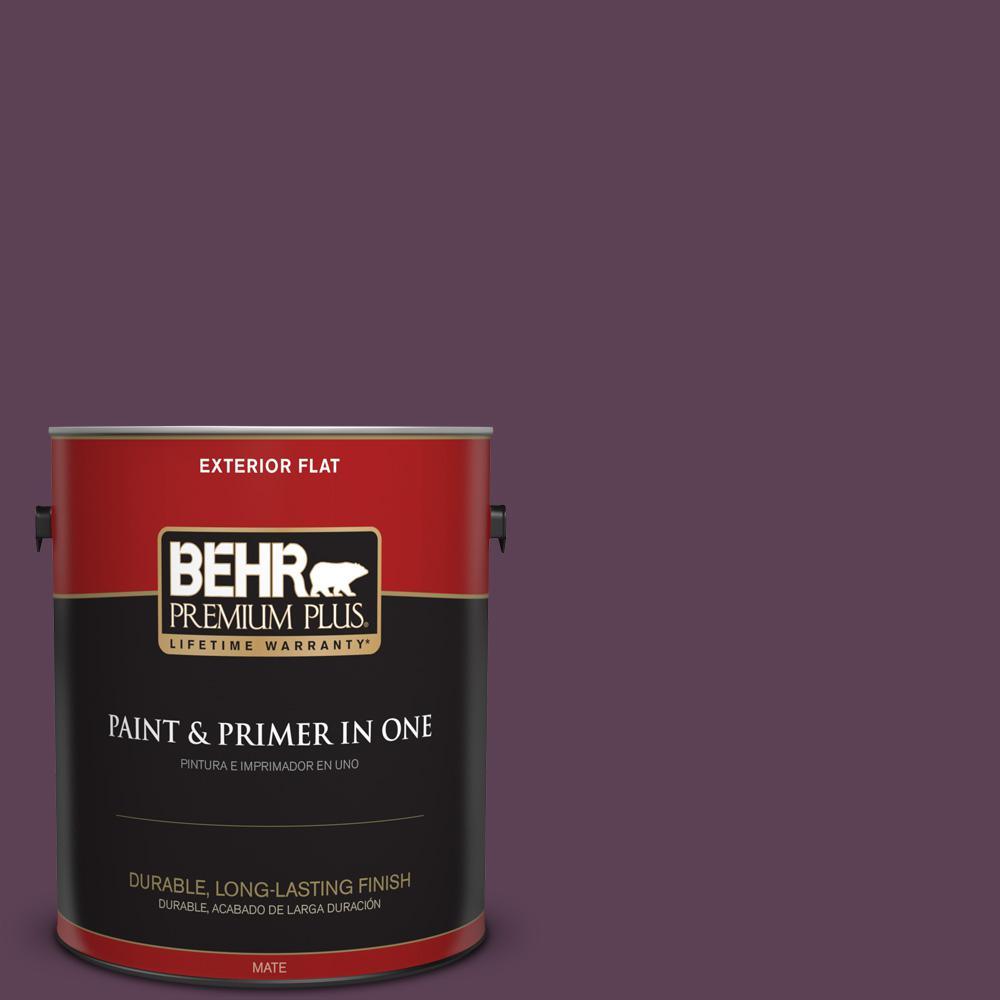 1 gal. #PPU17-03 Vixen Flat Exterior Paint