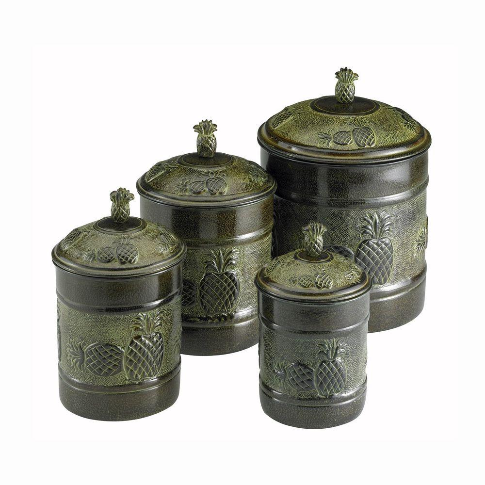 Old Dutch Pina Canister Set with Fresh Seal Covers (4-Piece)-DISCONTINUED