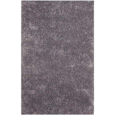 Classic Shag Ultra Gray 2 ft. 6 in. x 4 ft. Area Rug