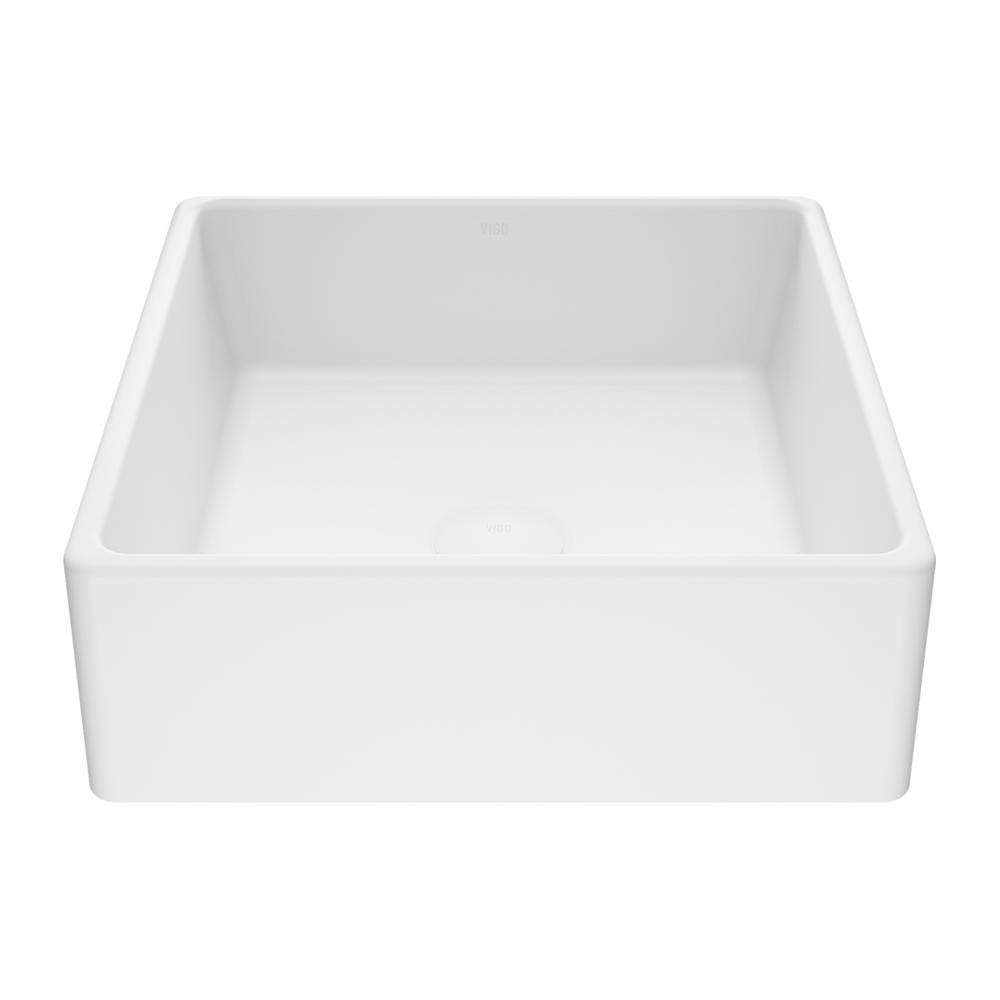 VIGO Dianthus Handmade Matte Stone Square Vessel Bathroom Sink in Matte White was $149.9 now $119.9 (20.0% off)