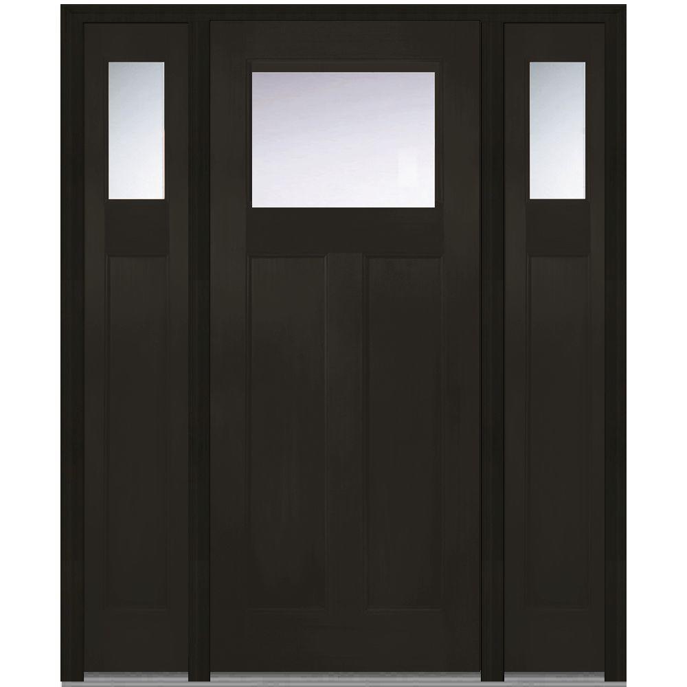 Shaker Fiberglass Single Door With Sidelites Front Doors