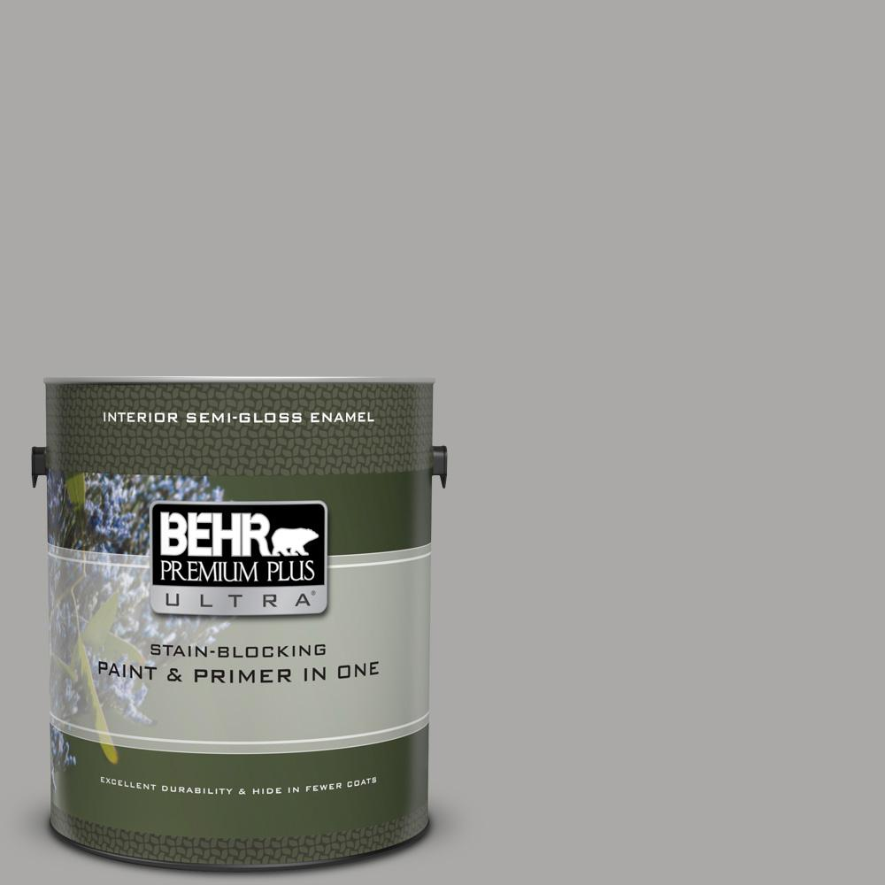 Ppu18 14 Cathedral Gray Semi Gloss Enamel Interior Paint And Primer In One