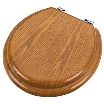 Round Closed Front Toilet Seat in Oak