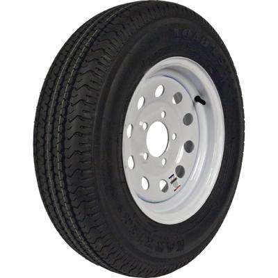 ST175/80R-13 KR03 Radial 1480 lb. Load Capacity White Stripe 13 in. Bias Tire and Wheel Assembly