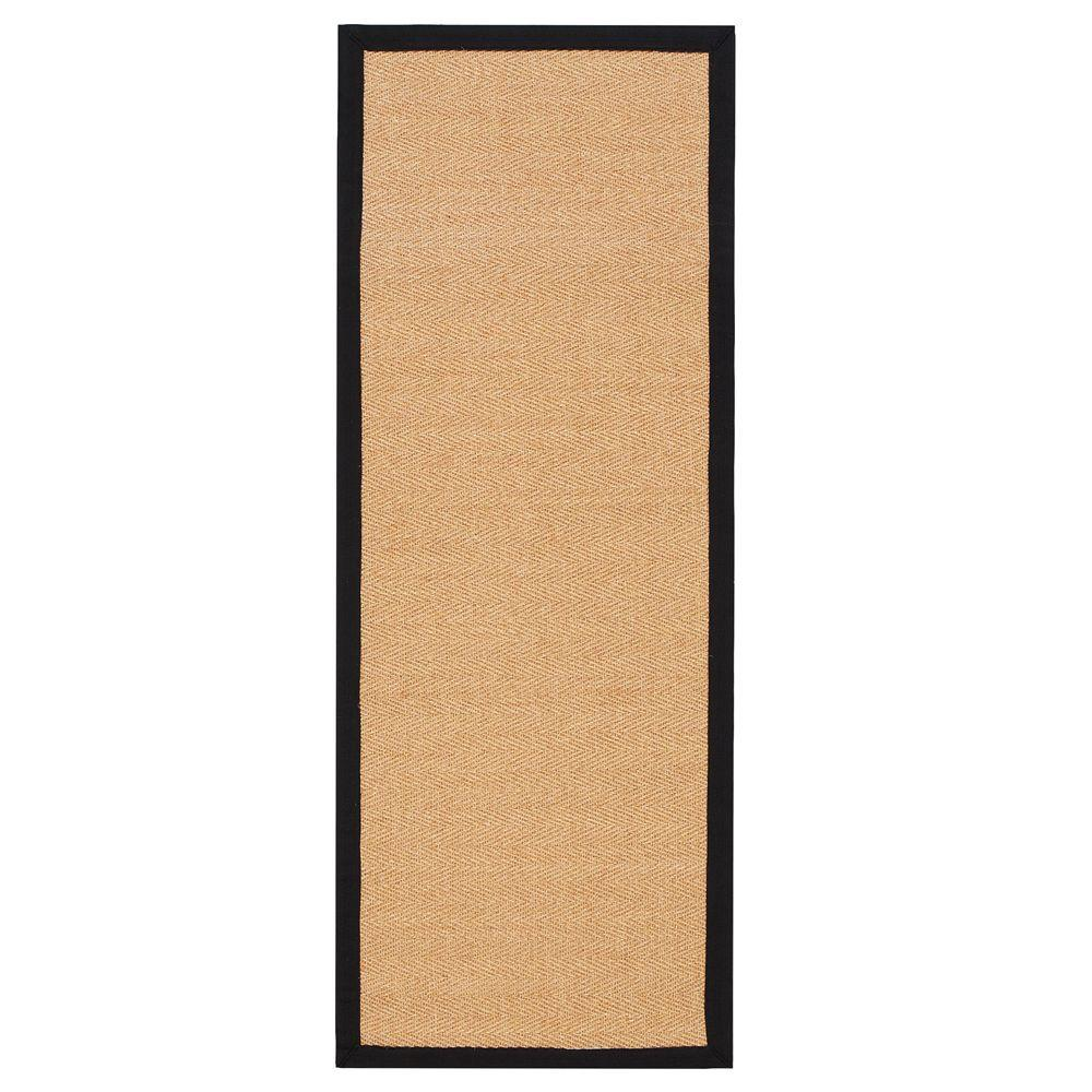 Home decorators collection marblehead sisal black 2 ft 3 for Sisal carpet home depot