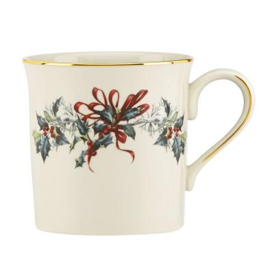 Winter Greetings 12 fl. oz. Ivory Bone China Mug