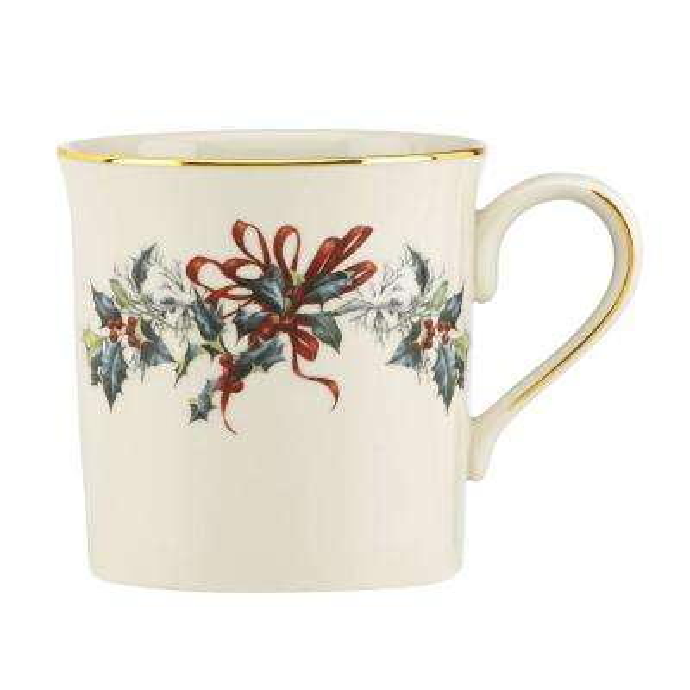 Winter Greetings 12 fl. oz. Ivory Bone China Mug