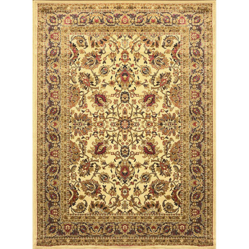 Home Dynamix Royalty Ivory 8 ft. x 10 ft. Indoor Area Rug