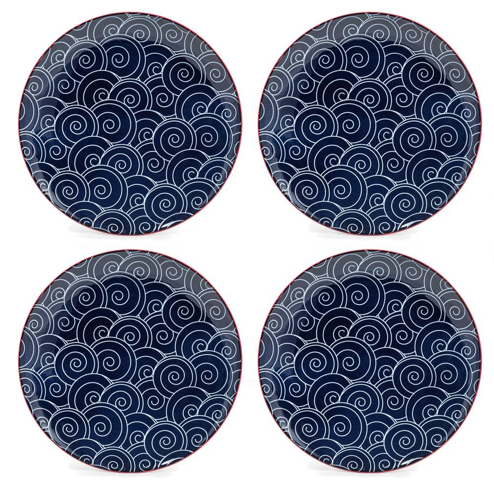 Frida Blue Dinner Plates (Set of 4)