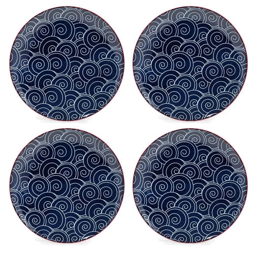 Frida Blue Dinner Plates (Set of 4)