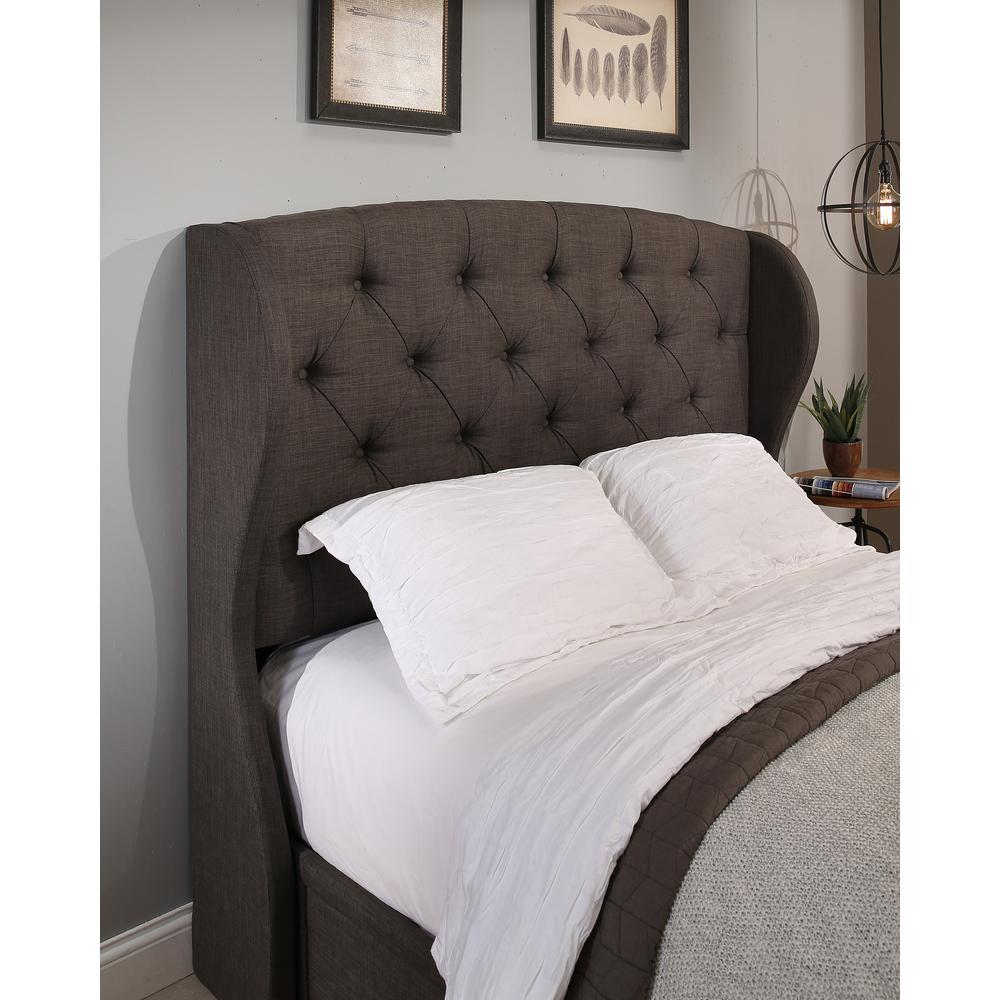 Archer upholstered headboard grey q f