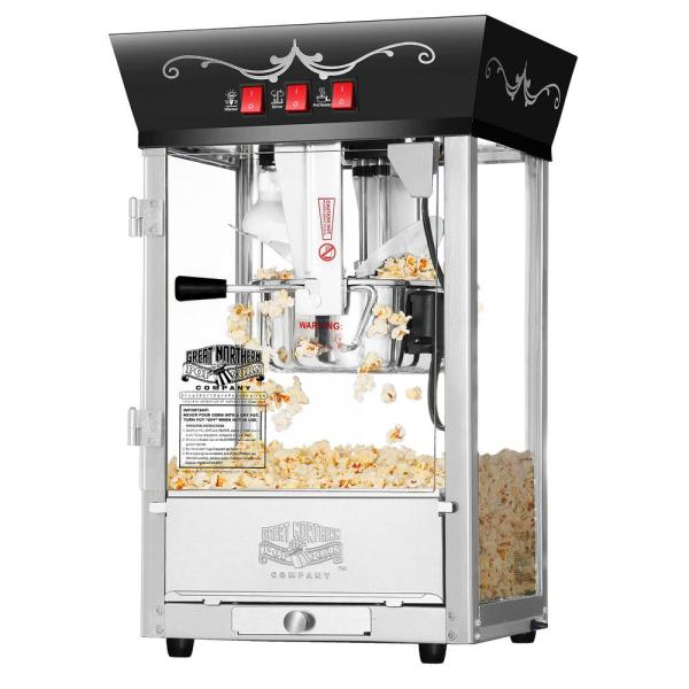 Matinee Movie 8 oz. Antique Black Countertop Popcorn Machine