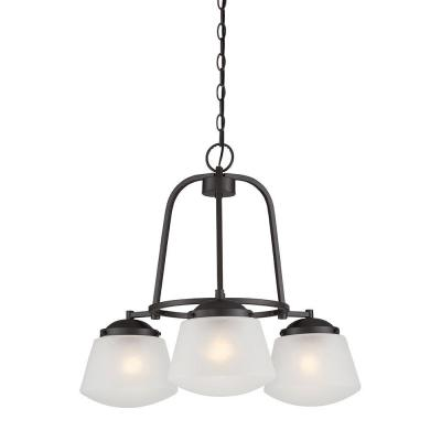 Mason 3-Light Satin Bronze Interior Incandescent Chandelier