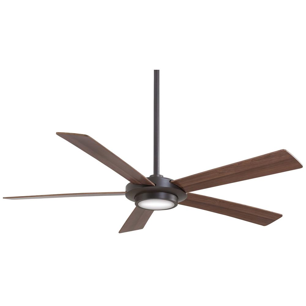 Minka-Aire Sabot 52 in. Integrated LED Indoor Distressed Koa Ceiling Fan with Light with Remote Control