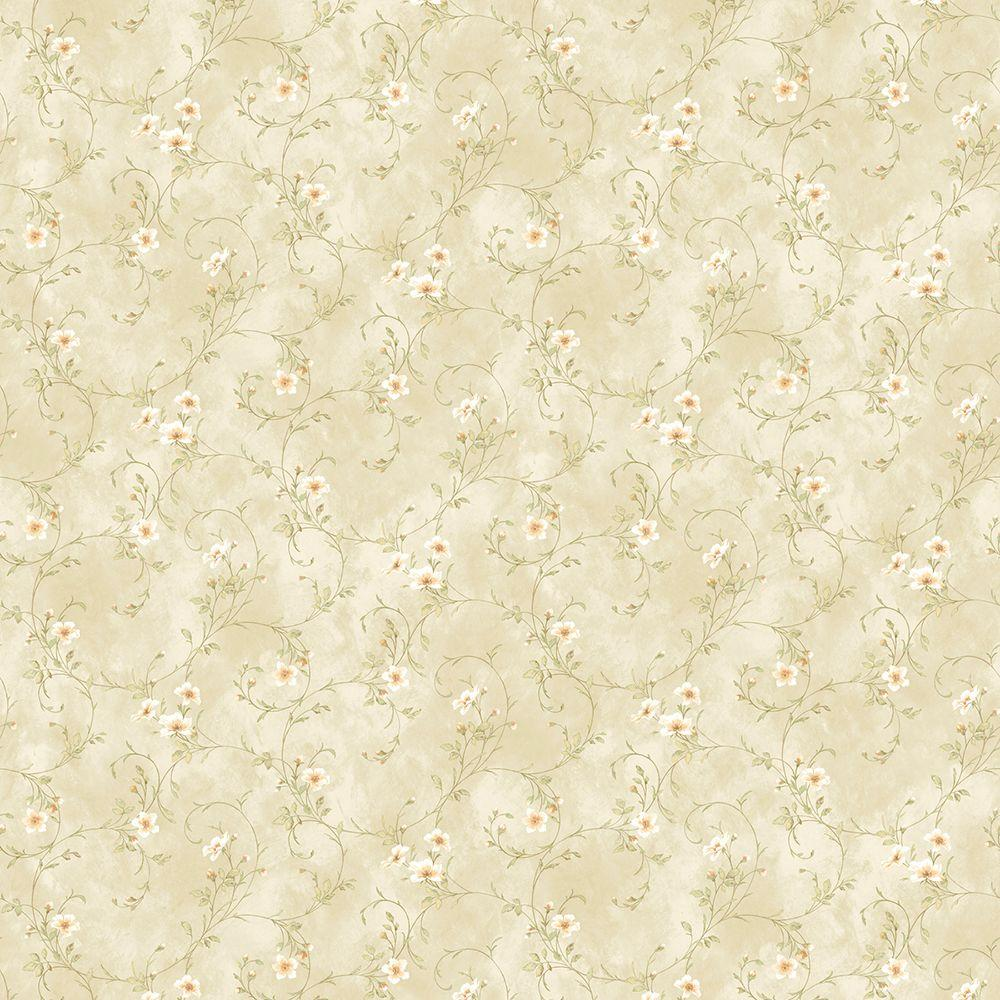 Chesapeake Capri Beige Floral Trail Wallpaper Dlr54634 The Home