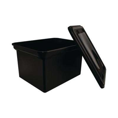 8 Gal. StorageTote with Lid in Black