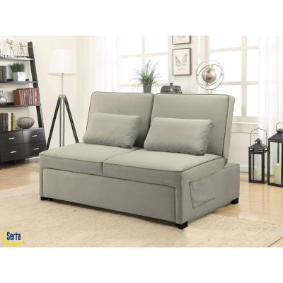 Naples  Barely Serta Multifunctional Sofa with Microfiber Upholstery and Solid Hardwood Frame