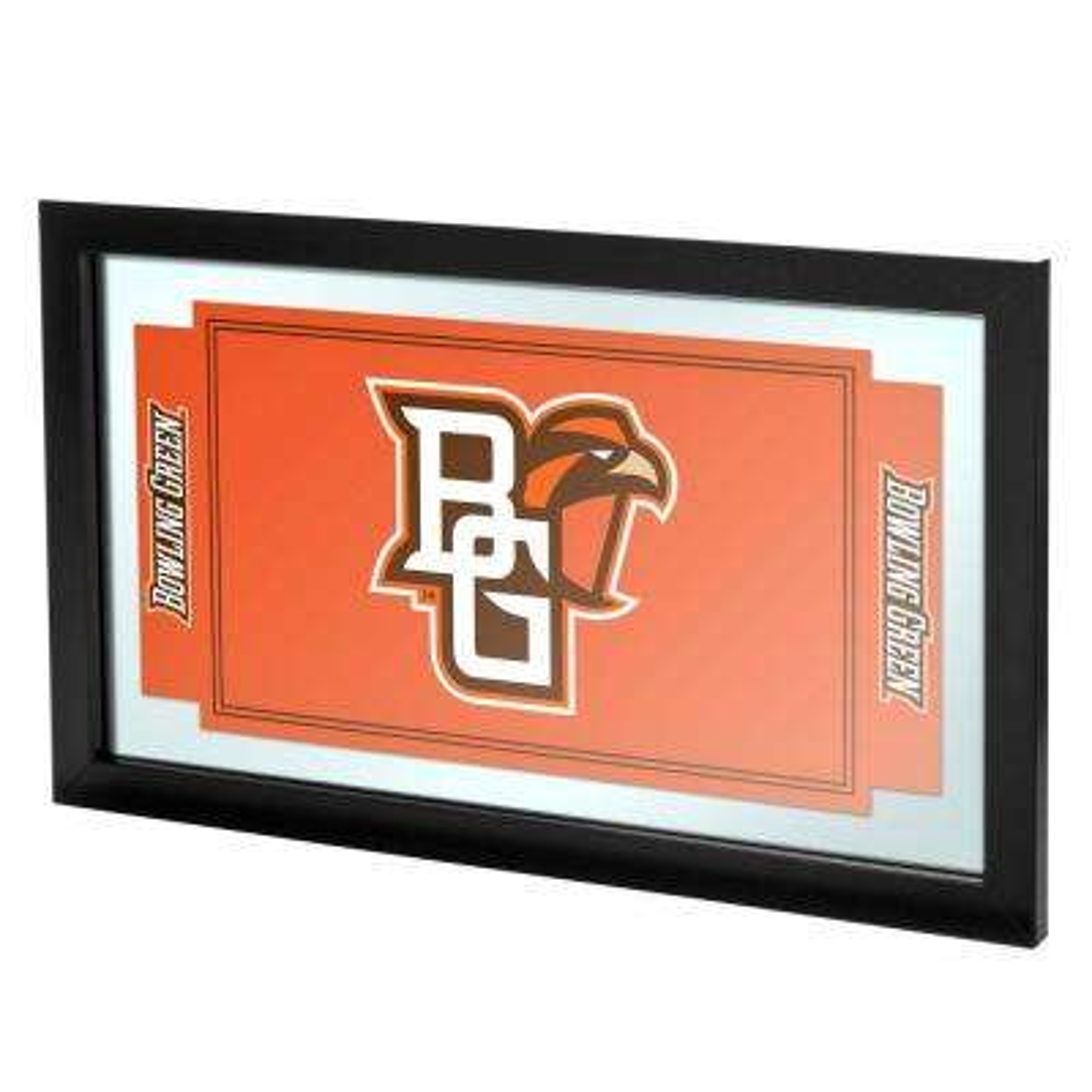 Bowling Green 15 in. x 26 in. Black Wood Framed Mirror