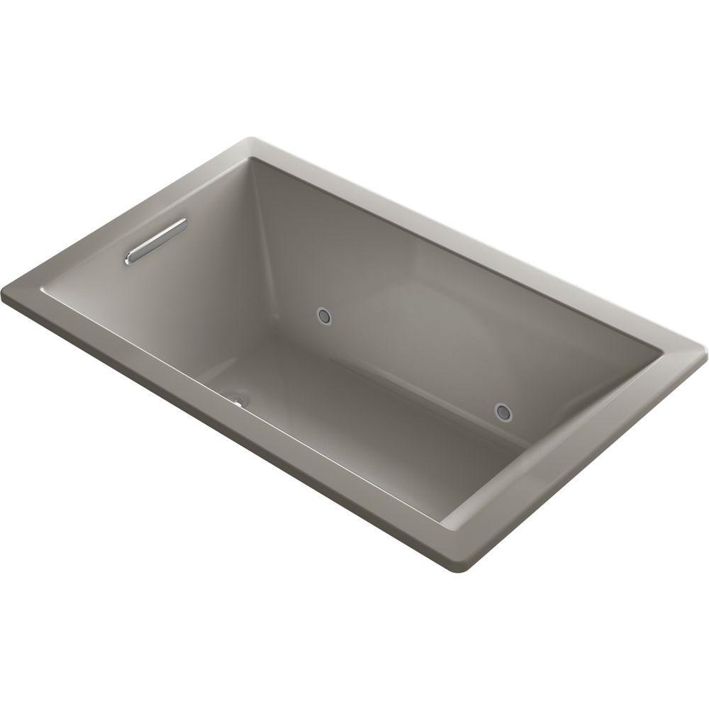 KOHLER Underscore 5 ft. Air Bath Tub in Cashmere