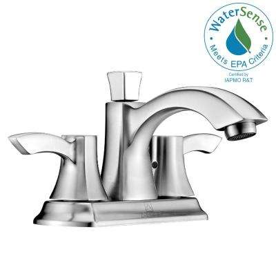 Vista Series 4 in. Centerset 2-Handle Mid-Arc Bathroom Faucet in Brushed Nickel