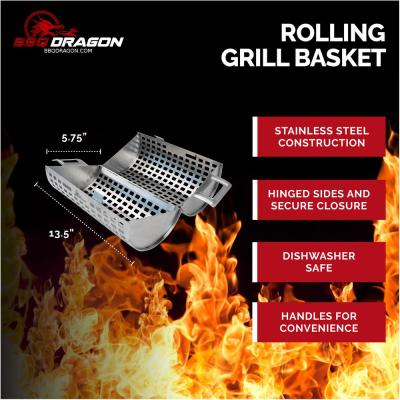Rolling Grill Basket