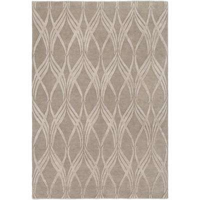 Boudicca Taupe 2 ft. x 3 ft. Area Rug