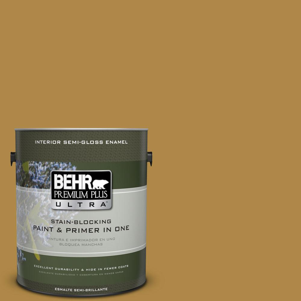 1-gal. #M300-6 Indian Spice Semi-Gloss Enamel Interior Paint