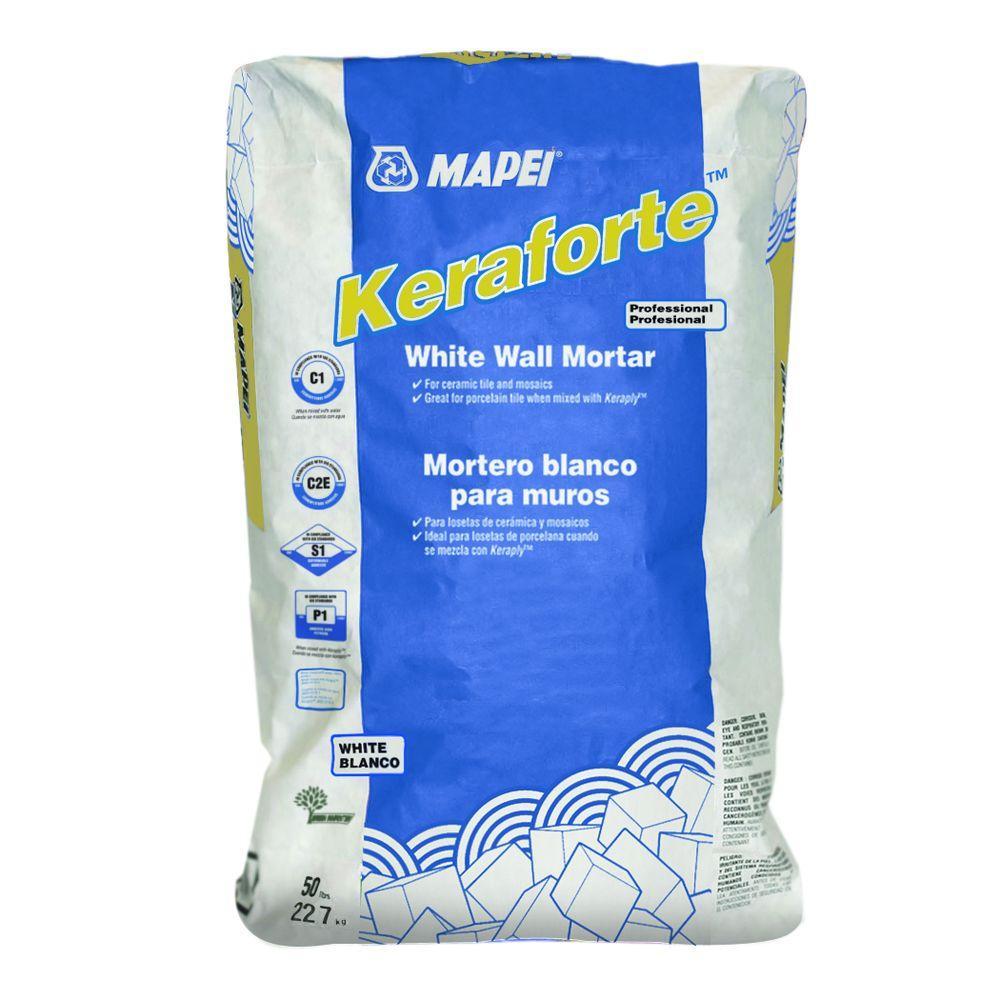Mapei keraforte 50 lb white wall powder mortar 0130050h the mapei keraforte 50 lb white wall powder mortar dailygadgetfo Gallery