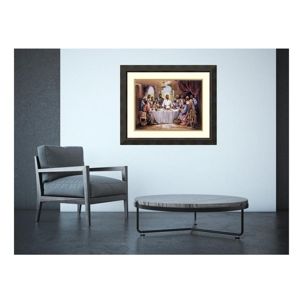 """Amanti Art 34.5 in. W x 28.5 in. H """"The Last Supper"""" by Q..."""