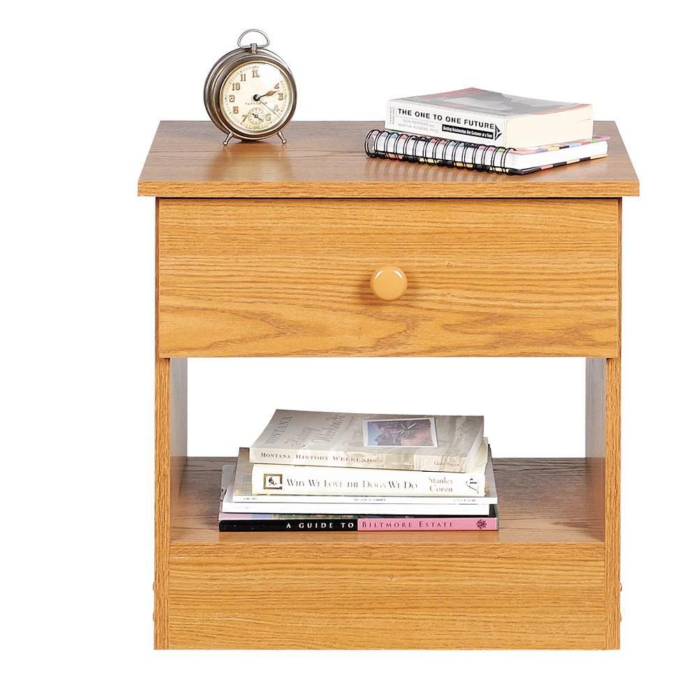 Prepac Edenvale 1-Drawer Nightstand in Oak