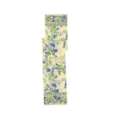 Wildflower 13 in. x 72 in. Meadow Floral Yellow Table Runner