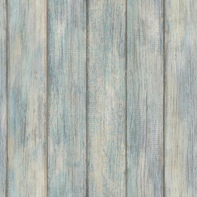 Nantucket Plank Blue Textured Vinyl Strippable Roll (Covers 28.2 sq. ft.)