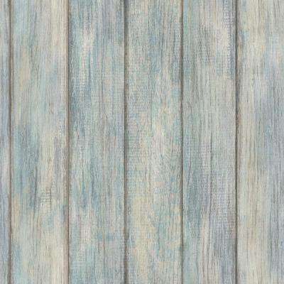 Nantucket Plank Blues Vinyl Strippable Roll (Covers 28.2 sq. ft.)