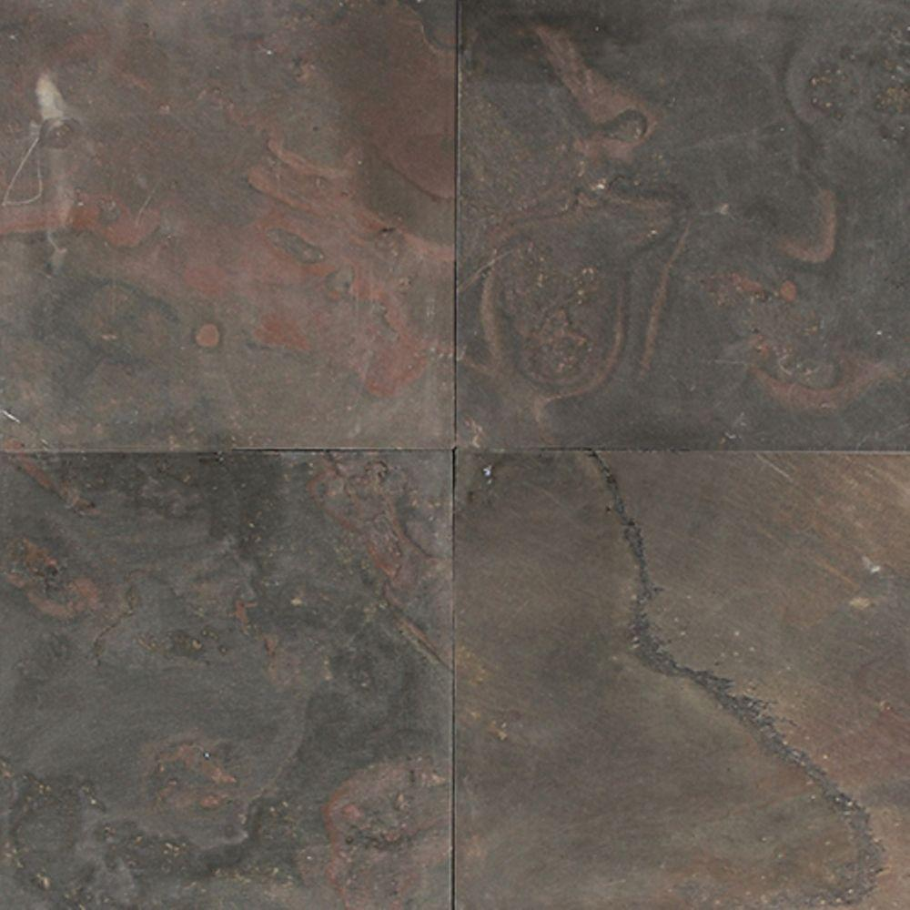 Daltile Natural Stone Collection Indian Multicolor 12 In X Slate Floor And