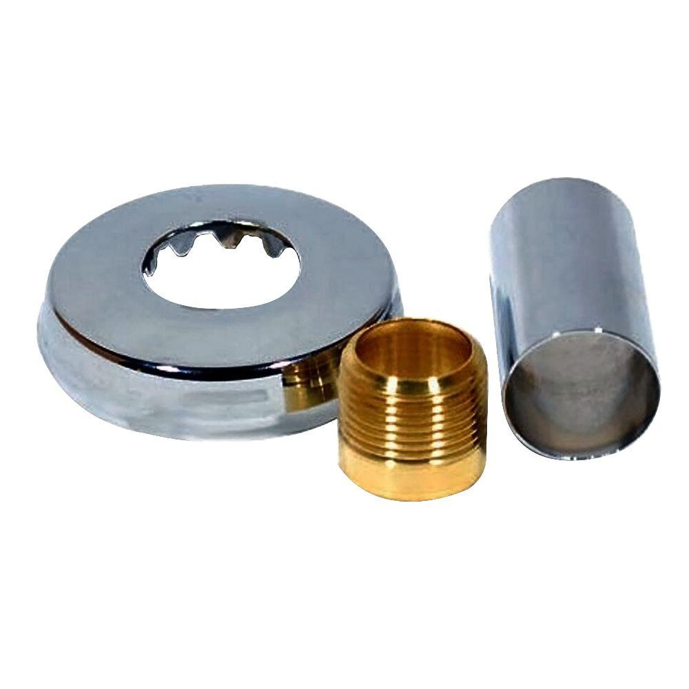 H-6533-AS, 3308780 3 in. 1-Sweat End Connection Kit, Polished Chrome