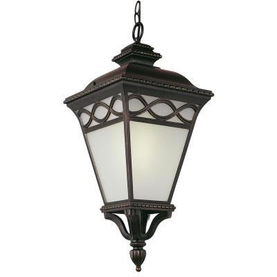 Dublin 25 in. 1-Light Black Outdoor Hanging Lantern