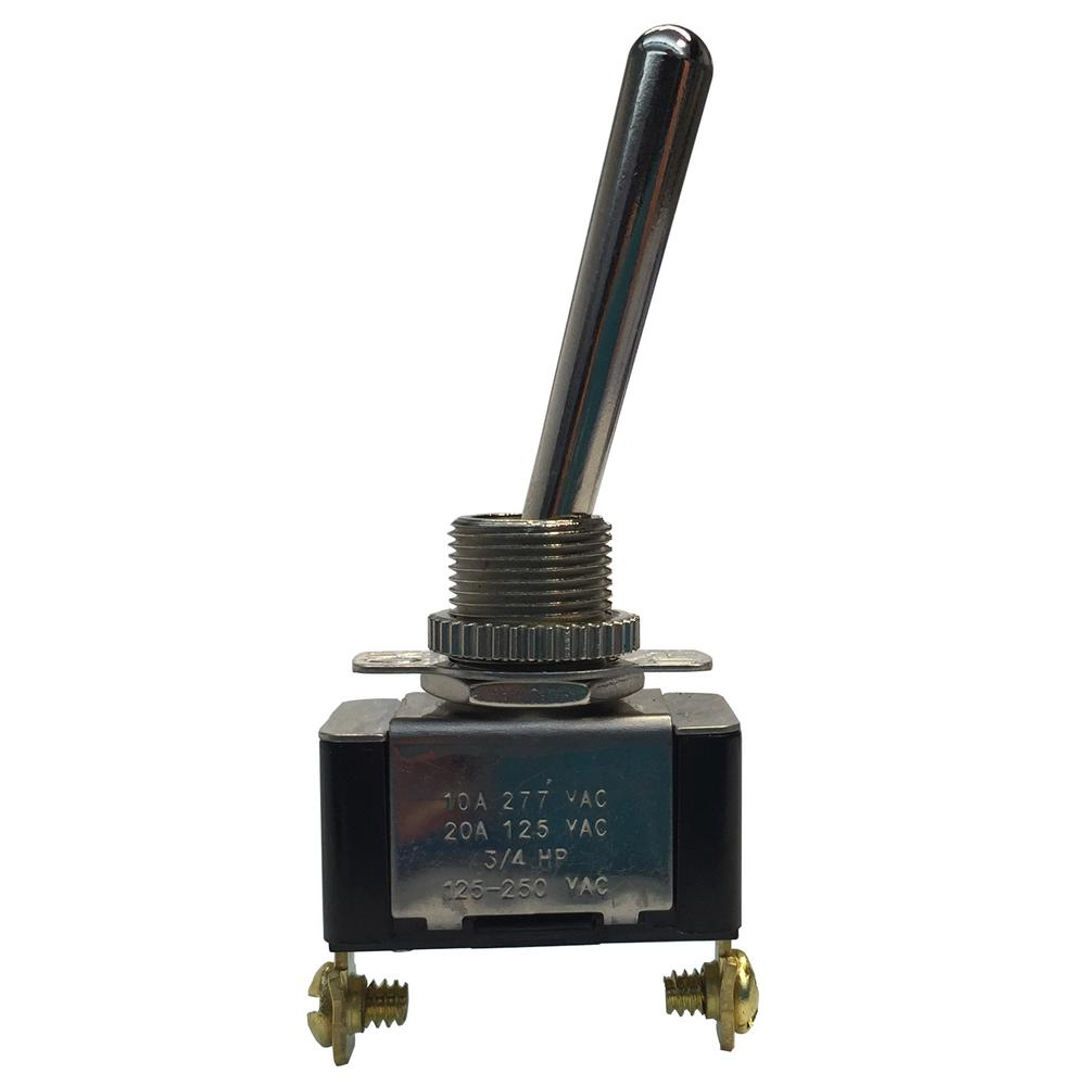Gardner Bender Long Bat Handle Toggle Switch Spst 20 Amp 125 Volt Ac Case