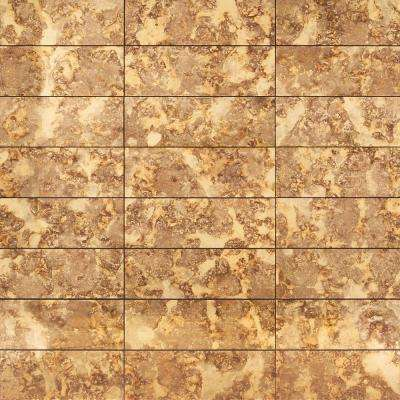 Lana Gold 6 in. x 18 in. Antique Glass Wall Tile (6 sq. ft./ case)
