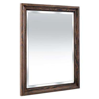 Goldsboro 26 in. W x 32 in. H Framed Wall Mirror in Weathered Oak