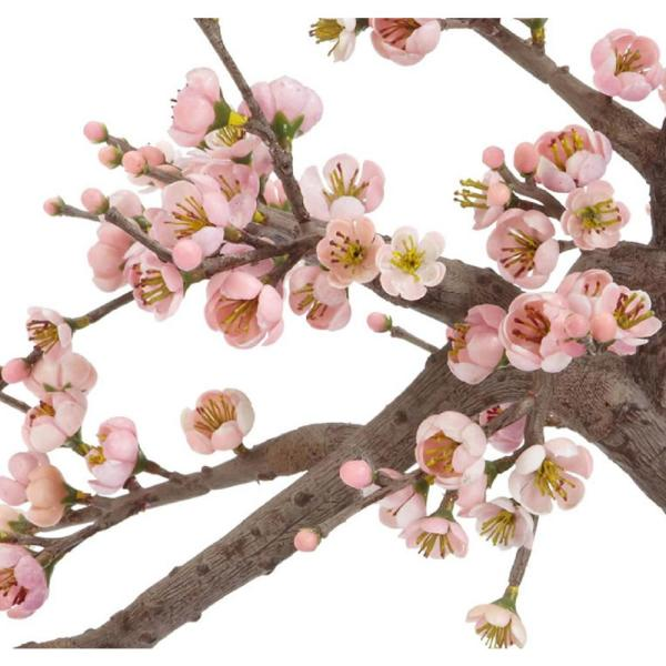 Nearly Natural 15 In H Pink Artificial Cherry Blossom Bonsai Silk Tree 4764 The Home Depot