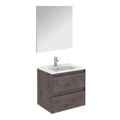 23.9 in. W x 18.1 in. D x 22.3 in. H Complete Bathroom Vanity Unit in Samara Ash with Mirror