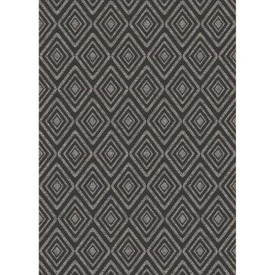 Washable Prism Black 5 ft. x 7 ft. Stain Resistant Area Rug
