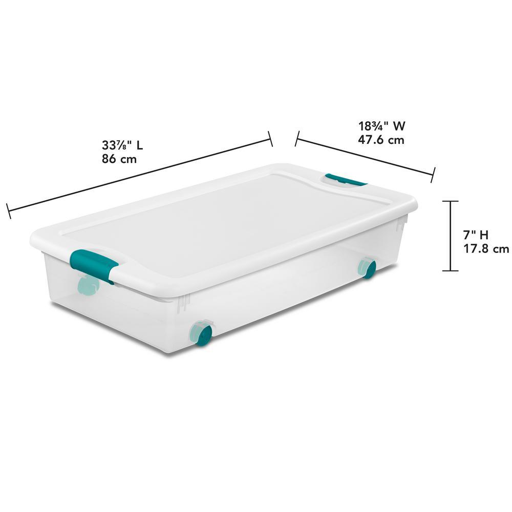 56 Qt Latching Wheeled Storage Box