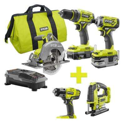 18-Volt ONE+ Lithium-Ion Cordless Brushless Combo Kit (3-Tool) w/Bonus Impact Wrench and Jigsaw