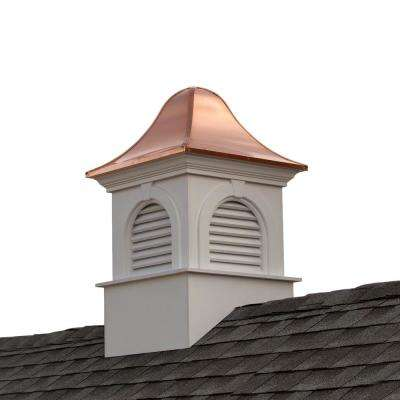 Smithsonian Ridgefield 30 in. x 50 in. Vinyl Cupola with Copper Roof