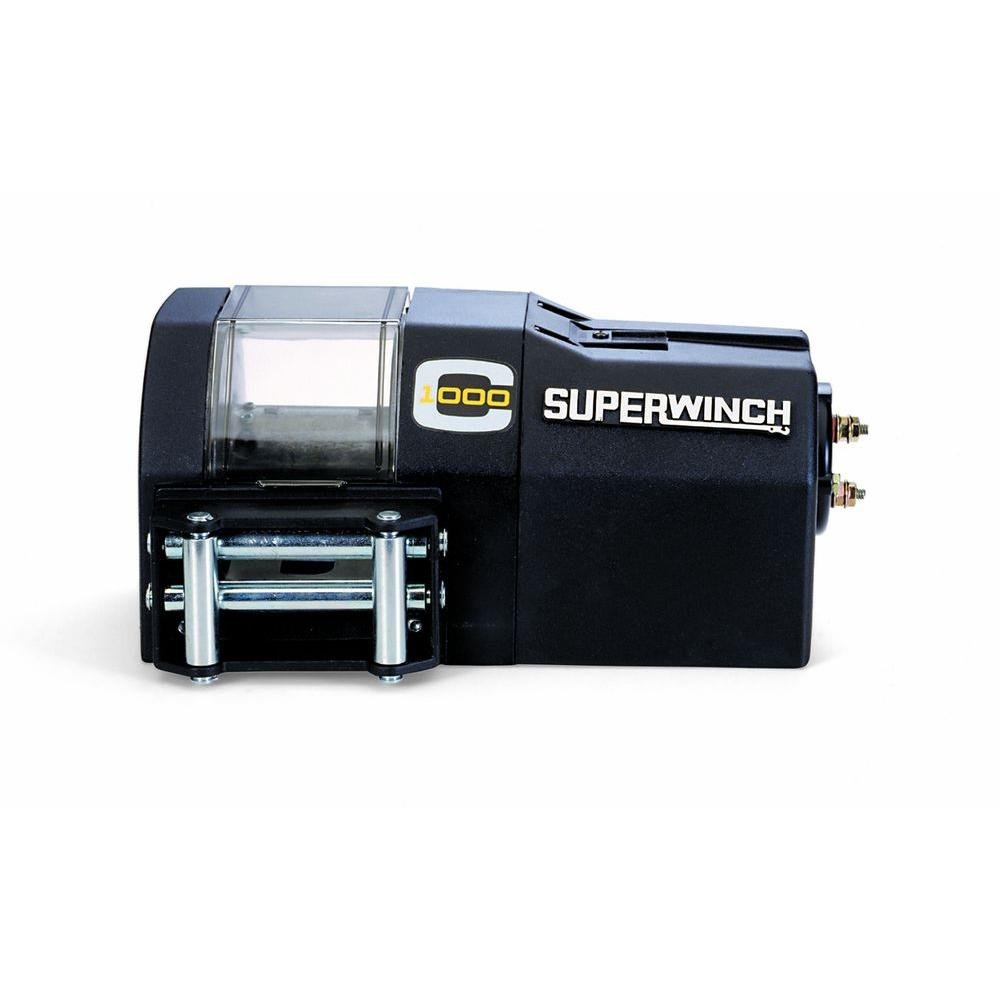 Superwinch Talon 140 12 Volt Dc Industrial Winch With 4 Way Roller Led Light Bulbs Charging System Warn Wiring Crane Series C1000 Fairlead And