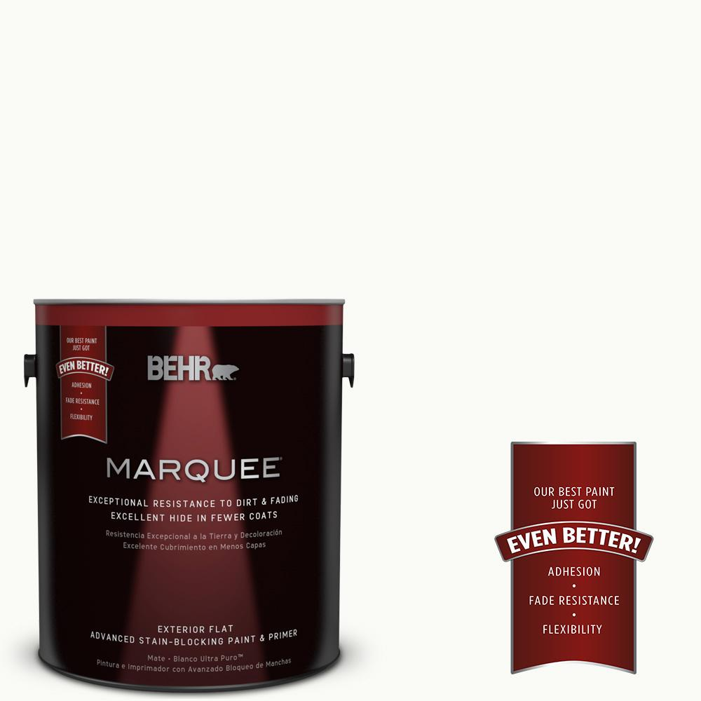BEHR MARQUEE 1 gal. #PPU18-6 Ultra Pure White Flat Exterior Paint