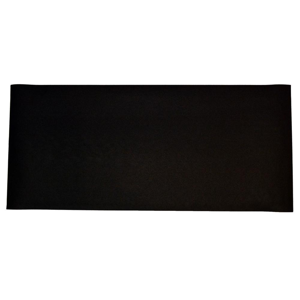 TechnoFloor Black 48 in. x 72 in. Rubber All-Purpose Mat