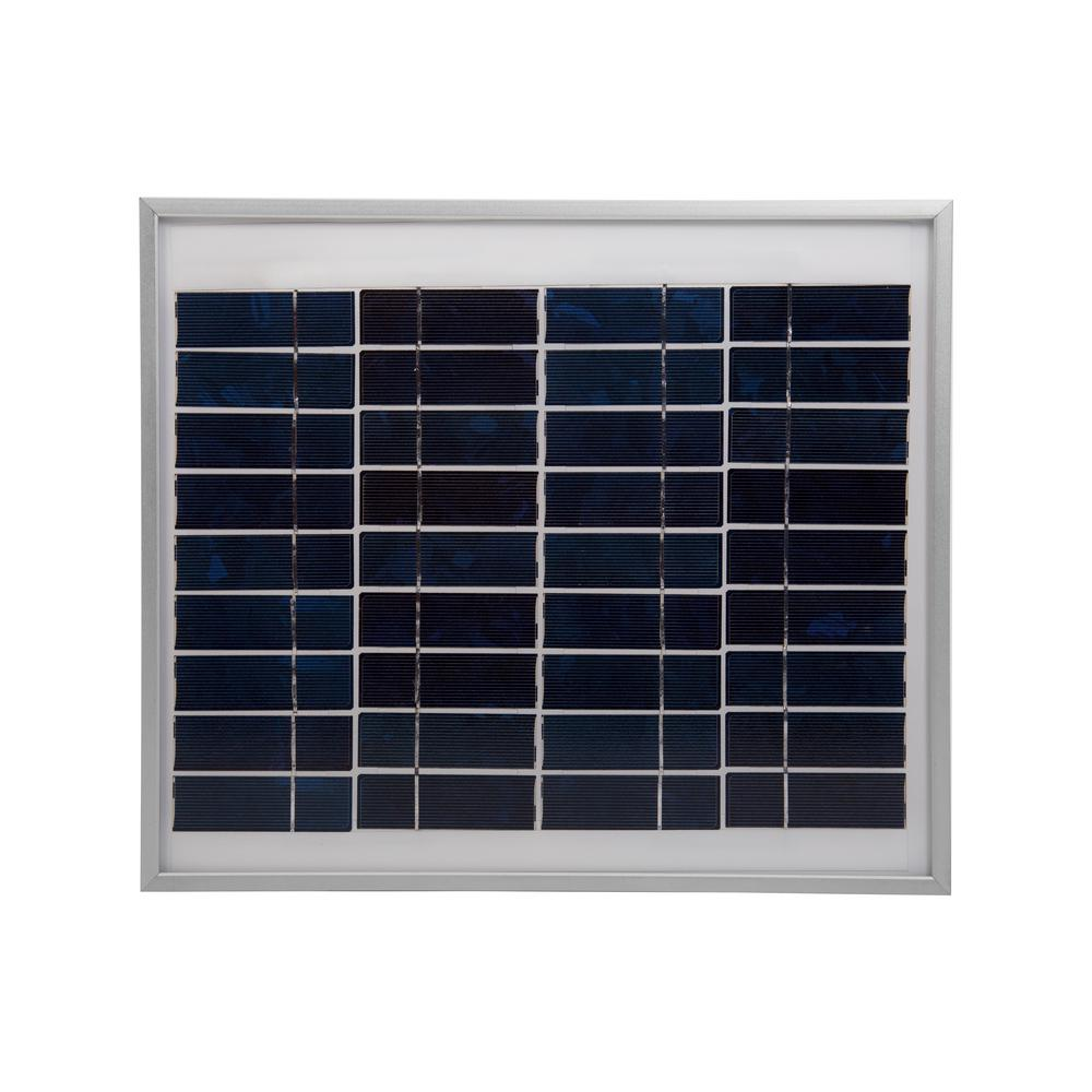 Coleman 10-Watt Polycrystalline 12-Volt Solar Panel The Coleman 10W Crystalline Solar Panel is the ideal choice for generating power in remote locations or as a part of a back-up power system.